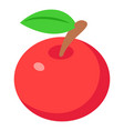red apples icon isometric 3d style vector image vector image