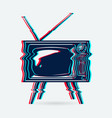 retro tv object vector image vector image