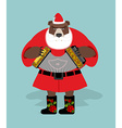 Russian bear in guise of snata Claus Wild animal vector image vector image