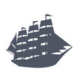 sailing vessel silhouette vector image
