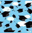 seamless pattern of graduation vector image
