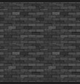seamless texture vintage black brick wall vector image vector image
