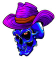 skull pimp with hat on white vector image vector image