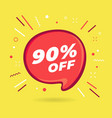 special offer sale red bubble 90 percent discount vector image vector image