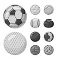 sport and ball sign set of vector image vector image
