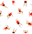 sport woman pattern vector image