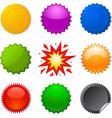starburst seals vector image