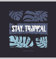 stay tropical graphic t-shirt design vector image