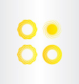 sun solar energy icon collection set elements vector image vector image
