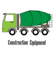 the concrete mixer vector image