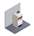 the isometric of the bedside table vector image vector image