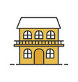 two storey cottage color icon vector image