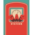 Vintage Gas Station poster design vector image