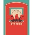 Vintage Gas Station poster design vector image