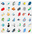 web page icons set isometric style vector image vector image