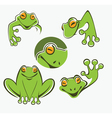 frogs collection vector image