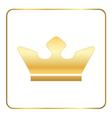 Croun gold icon royal white vector image