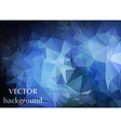 Abstract background of triangles polygon wallpaper vector image vector image