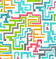 abstract colored geometric seamless pattern with vector image vector image