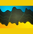 abstract tech concept futuristic wavy background vector image vector image