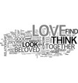 are you in love text word cloud concept vector image vector image