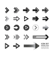 arrow icons design set vector image vector image