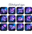 astrological signs icon set vector image vector image