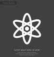 atom premium icon white on dark background vector image