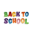 Back To School hand drawn typeface vector image