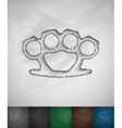 brass knuckles icon vector image