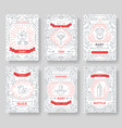 breastfeeding thin line brochure cards set chil vector image vector image