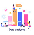 business data analysis development vector image vector image