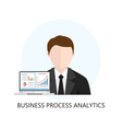 Business Process Analytics Flat Icon vector image