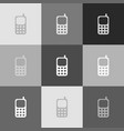cell phone sign grayscale version of vector image vector image