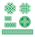 Celtic Irish patterns and braids St Patricks Day vector image vector image