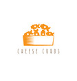 cheese curds in bowl design template vector image
