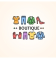clothing shop or boutique concept vector image
