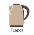 color of the teapot vector image vector image