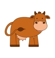 cow character isolated icon vector image vector image