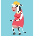 Cow old woman portrait on vector image