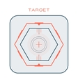 Crosshair target symbol success aim circle vector image