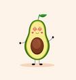 cute avocado girl vector image