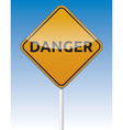 Danger traffic board vector image