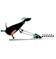 Dog lawnmower vector image vector image