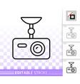 dvr simple black line icon vector image