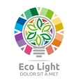 eco light bulb design colorful icon vector image vector image