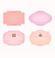 emblem oval-shaped frame pink hue design vector image vector image