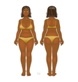 Fat and thin woman normal anorexia body vector image vector image