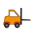forklift industrial icon image vector image vector image