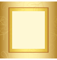 frame with gold floral pattern vector image vector image